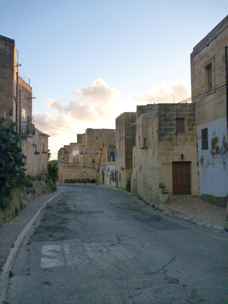 The street leading down to Xlendi bay