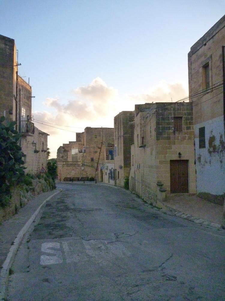 The street leading down to Xlendi bay