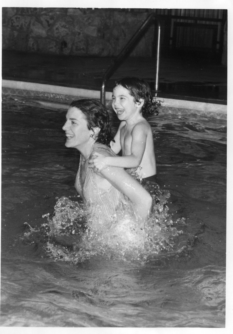 Mom and me in pool